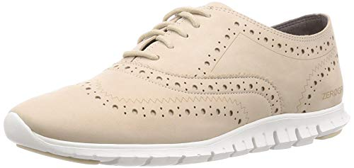 Cole Haan Women's Zerogrand Wing Oxford Closed Hole Ii, Oat Nubuck, 10 B US
