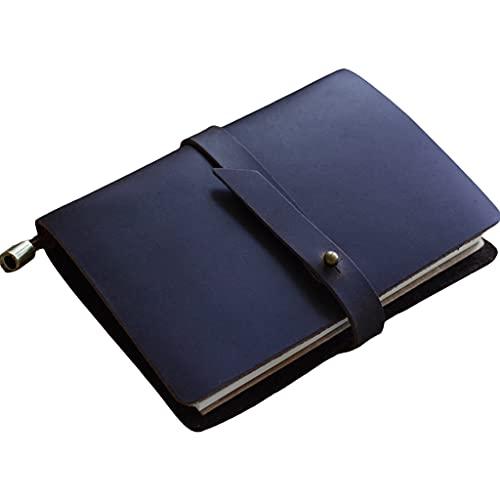 YOURPAI Leder-Notizbuch, Vintage-Leder-Reisetagebuch, Notizbuch, Tagebuch, Skizzenbuch, Tagebuch, Notizblock, blau