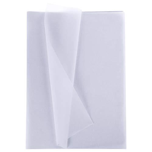 Xinstroe 100Blatt Metallic Geschenkverpackung Weiß Seidenpapier Bulk für Hochzeiten, Geburtstagsfeier, Duschen, Kunsthandwerk, Diy, Weihnachten
