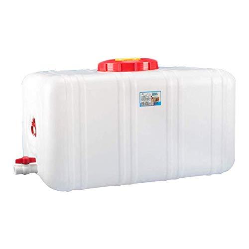 XIAOHE Depósito de Espesado de los hogares de Calidad alimentaria Recipiente de Agua de plástico a Granel Tanque Rectangular Horizontal con Grifo (Size : 200L)