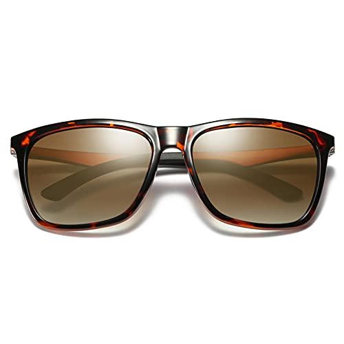 YUANCHENG Gafas de visión Nocturna Retro para Hombre Gafas de Sol polarizadas Gafas de Sol de Espejo UV400