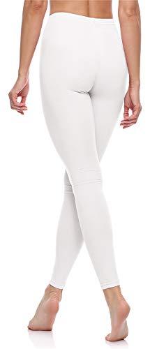 Merry Style Leggins Largos Mallas Deportivas Mujer MS10-198 (Blanco, 3XL)