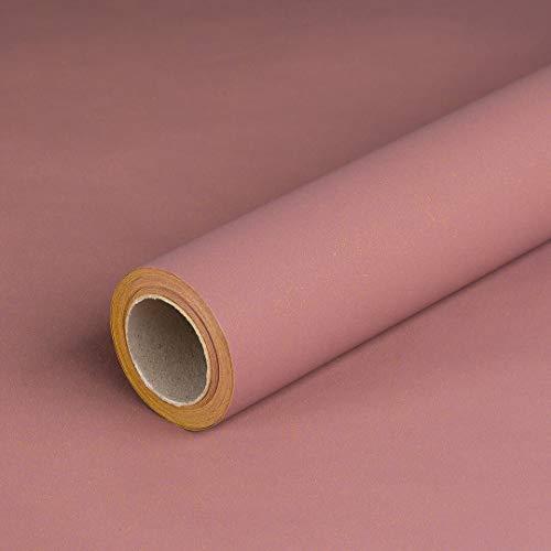 Geschenkpapier Altrosa, einfarbig, Recyclingpapier, glatt, 80 g/m², Geburtstagspapier - 1 Rolle 0,70 x 10 m