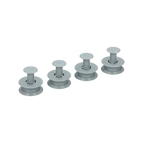 4 Roulettes panier supérieur Lave-vaisselle 481252888113 WHIRLPOOL