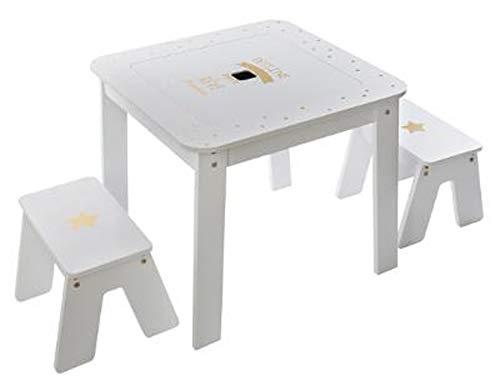 PEGANE Ensemble Table et 2 chaises pour Enfant Coloris Multicolore