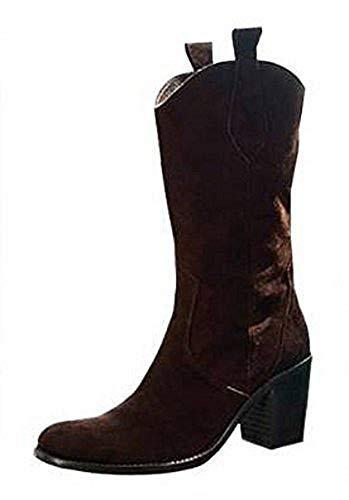 APART Fashion Stiefel Westernstiefel aus Veloursleder in Braun Gr. 42