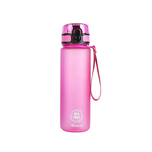 JSSEVN Wasserflaschen Fahrrad Trinkflasche Auslaufsichere Water Bottle Bpa Frei 500ML für Sport Outdoor