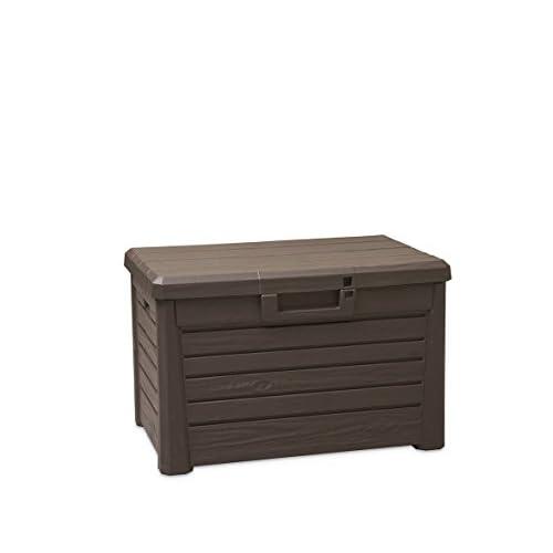 Toomax Z158E435 Baule Compact Box Florida per Esterno, Marrone