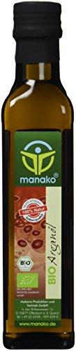manako BIO - Arganöl aus Marokko, leicht geröstet, kaltgepresst, 100% rein, 250 ml Glasflasche (1 x 0,25 l)