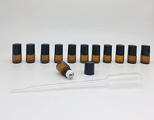 Botellas roll on ámbar para aceites esenciales de vidrio- Botellitas cristal 1ml-12...