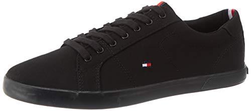 Tommy Hilfiger Herren Iconic Long LACE Sneaker, Schwarz (Black/Black 0gk), 44 EU
