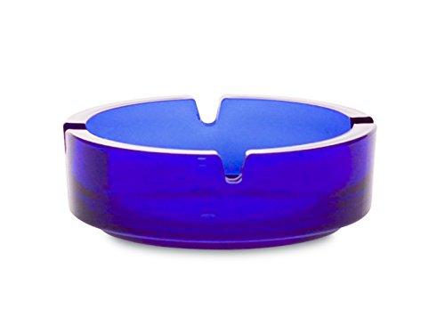 Borgonovo 6135111 Dresda - Cenicero de cristal, 10,7 cm, Azul
