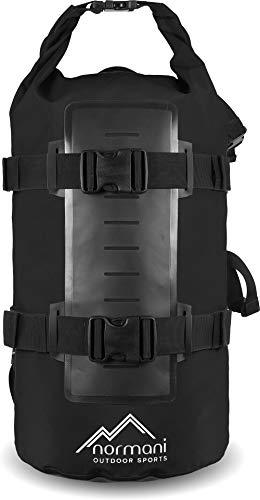 normani Rucksack Wasserdichter Trekking-Rucksack aus LKW-Plane, 40 Liter Farbe Schwarz