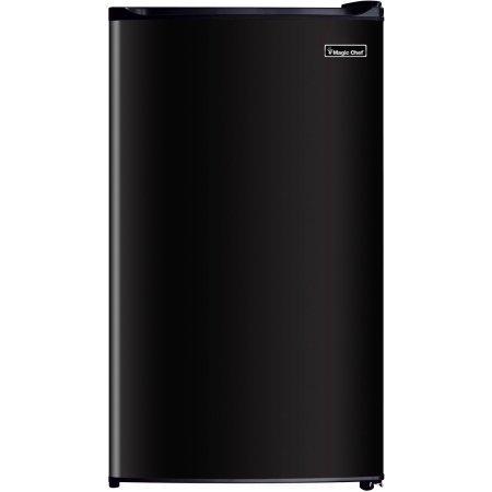 Magic Chef 3.5 cu ft Compact Single Door Refrigerator, Black