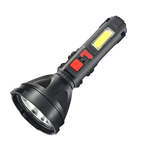 Hellery Linterna Recargable LED de Alta Potencia Super Brillante Impermeable al Aire Libre Proyector de Mano Linterna Reflector LED portátil