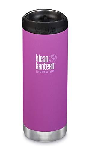 Klean Kanteen TKWide 16oz (w/ Café Cap) - Berry Bright, 1 EA