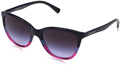Emporio Armani 0ea4110 56334q 55 Gafas de sol, Violet/Blue/Strawberry, Mujer