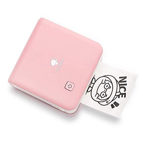 Phomemo 300dpi Pocket Phone Printer- M02 Pro Mini Photo Printer Wireless Thermal Printer for iOS and Android, Plan Journal, Organization, Art Creation, Gift, Pink