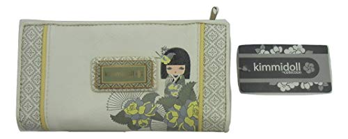 Kimmidoll Collection Monedero Estuche Portatodo Blanco Mujer