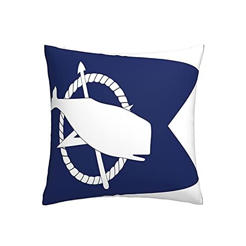 LOOU Nantucket Home - Fundas decorativas cuadradas para cojines (45,7 x 45,7 cm)