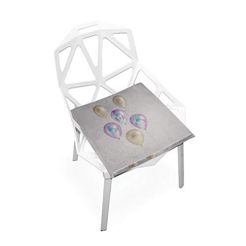 Plsdx Ballons In verschiedenen goldenen Farben Weiche rutschfeste quadratische Memory Foam Chair Pads Kissen Sitz für Home Kitchen Esszimmer Büro Rollstuhl Schreibtisch Holzmöbel Indoor 16 X 16 Zoll
