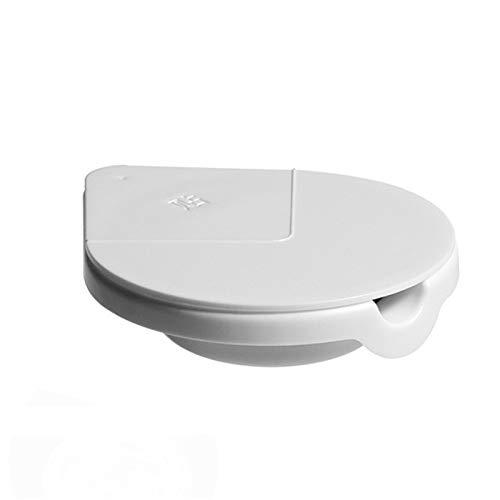 Serious Lamp 2 Piezas Cenicero Pegable, Caja de Almacenamiento Desmontable, Cenicero Oculto de Escritorio, Caja de Almacenamiento Multifuncional Rotación de 360° del Cenicero de Cigarrillos,Blanco