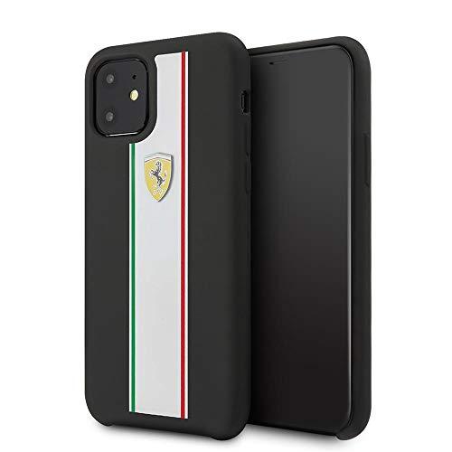 CG Mobile Ferrari FESPIHCN61BK - Cover in silicone per iPhone 11, colore: Nero