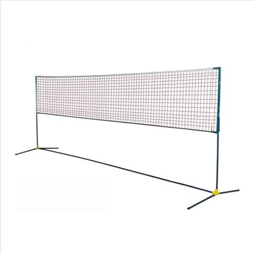 YUOPL Ensemble de Filet de Badminton Portable, Filet pour Tennis, Filet de Sport en Nylon avec poteaux, Installation Facile pour Terrain intérieur ou extérieur