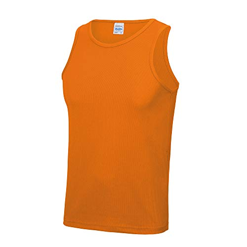 Just Cool Herren Sport Tank Top Gym XL,Orange