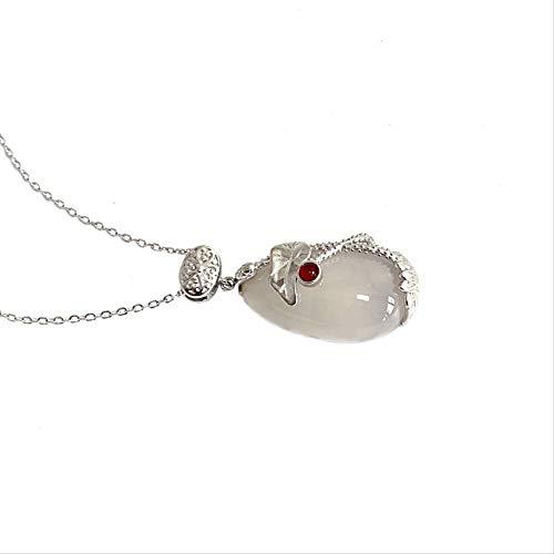 LFWQ halsketting van sterling zilver 925 jurebelle met rood lotusmotief
