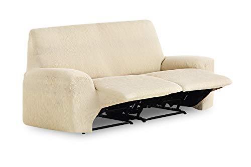 Textilhome - Funda de Sofá Elástica Relax TEIDE, 2 plazas, Funda para Asiento abatible - Desde 180 a 220 cm. Color Beig ✅
