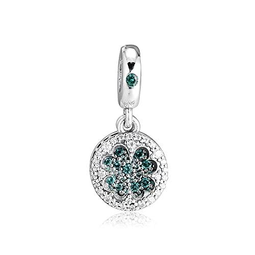 Charms 925 Silver Original Fit Pandora Pulseras Plata De Ley Lucky Four-Leaf Clover Cuentas Colgantes Para Joyería De Mujer Diy