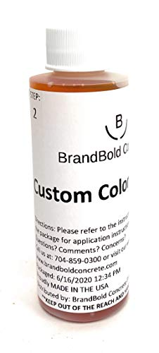 BrandBold Brilliance Concrete Acid Stain - 4 oz Sample - 14 Brilliant Color Options - Amazon Custom Sample