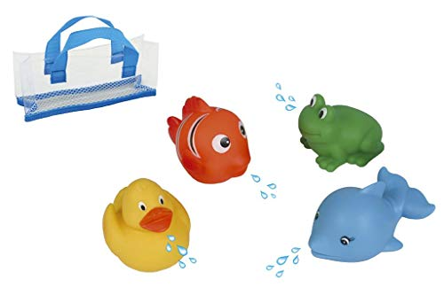 Water World - Set de 4 asperceurs - Animaux Marins - Jouets pour le bain