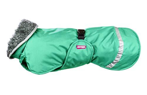 Pomppa Perus Hundemantel, wasserdicht, Kälteschutz, 40 cm, Mint 1 Stück