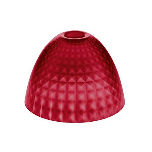 Koziol Silk S Abat-jour, lampadaire, lampe murale, abat-jour de table, plastique, rouge transparent, 17,5 cm, 1945536