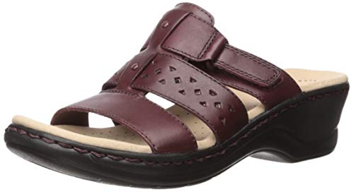 Clarks Women's Lexi Juno Sandal, Black Leather, 90 M US