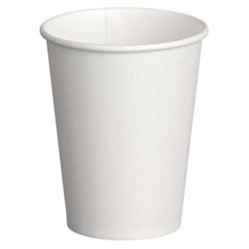 Vasos de cartón de calidad premium, de color blanco, 200ml de capacidad,...