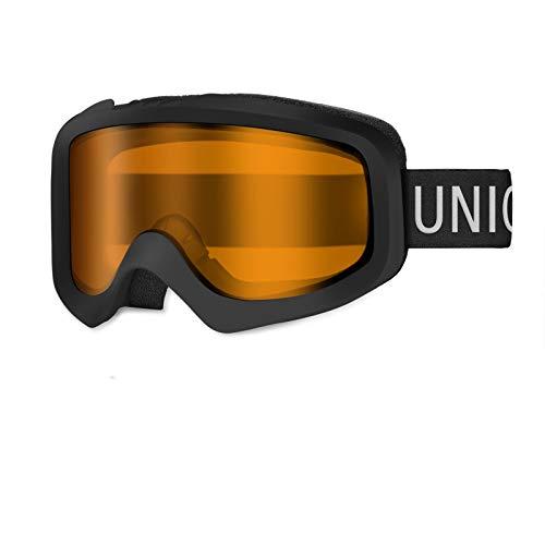 Unigear Skibrille, Skido X1, OTG Snowboard Brille UV-Schutz Schneebrille Anti-Schwindel Anti-Fog Helmkompatible Augenschutz für Herren Frauen