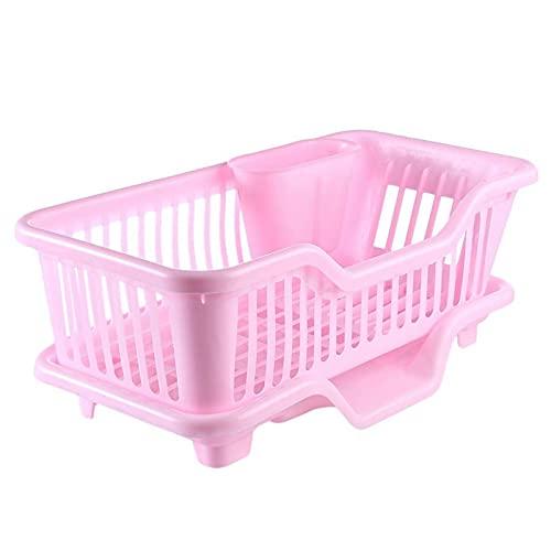 Heqianqian Escurreplatos de plástico ambiental para fregadero de cocina, soporte de lavado, cesta organizadora para lavar verduras y frutas, colador de cocina plegable para drenar cocinado