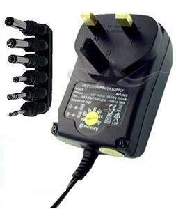 CostMad ® von PowerPax 6-Wege, 1000 mA max. AC auf DC, Universal-Multispannung, 3 V / 4,5 V / 6 V / 7,5 V / 9 V / 12 V, Netzteil-Adapter