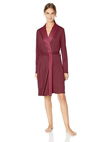 Hanro Damen Grand Central Robe Bademantel, Bohemian Pink, X-Large