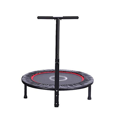 Rebounder Trampolines 40 Inches Household Children's Indoor Small Trampoline Weight Loss Equipment Adult Gym Bounce Bed with Handrails Four Fold Folding No Noise Max Load 150kg Fitness Exercise Equipm