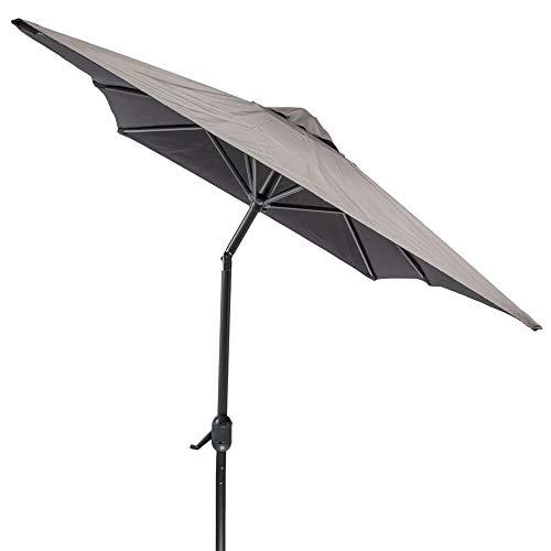 MaxxGarden - Sombrilla de jardín con sistema de rodamientos, 150 x 250 cm, color negro