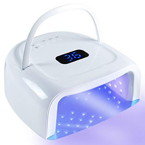 Lámpara de uñas Shengyang, luz de Gel inalámbrica, lámpara de Clavo de Pulido de Gel de 60W UV LED, con 5 ajustes de Temporizador, Sensor automático, Pantalla LCD, bajo Calor para manicura / pedicura