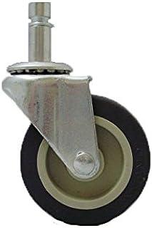 100 lbs Capacity 1-1//2 Length x 1-1//2 Width Plate Black Finish Shepherd Ultima Series 60mm Diameter Un-Hooded Twin Nylon Wheel Caster