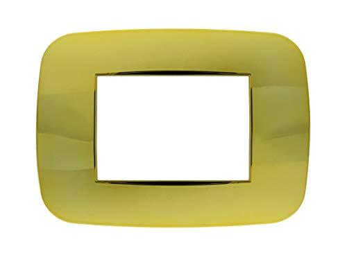 SANDASDON SD23003-13 Placca Futura 3M Oro Lucido Compatibile Bticino Axolute