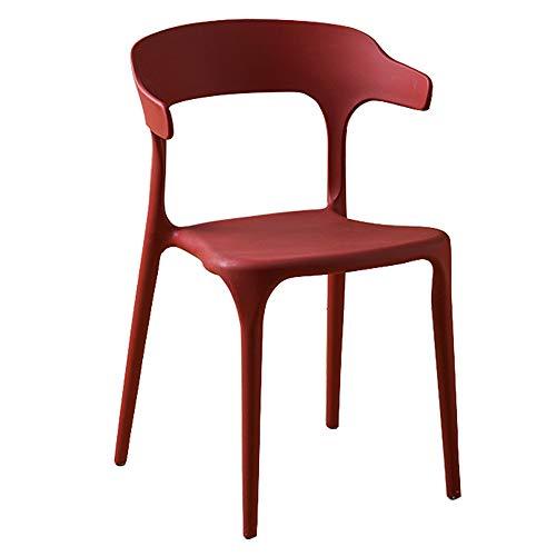 Dossier de chaise en plastique moderne minimaliste maison paresseux chaise Café de thé nordique tables et chaises (Couleur : G)