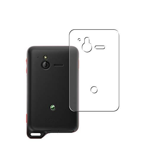 Vaxson 2 Unidades Protector de pantalla Posterior, compatible con Sony Ericsson XPERIA Active ST17i / ST17a [No Vidrio Templado] TPU Película Protectora Espalda Skin Cover