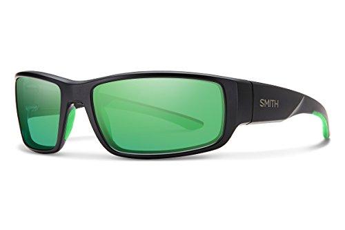 Smith Survey Sunglasses Matte Black/Green Mirror Poly